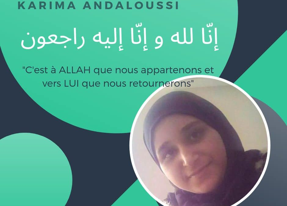 Décès de notre sœur Karima